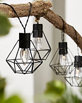 10 Geo Lantern Battery String Lights