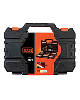 Black + Decker 109 Piece Drilling & Screw Driving Set