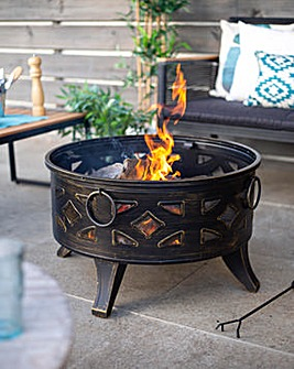 La Hacienda Diamond Steel Firepit