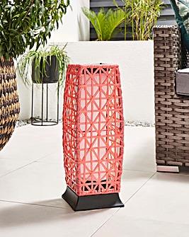 Coral Rattan Solar Lantern
