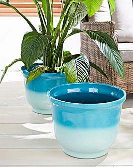 Set of 2 Ombre Planters