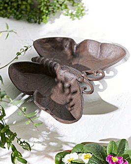 Cast Iron Butterfly Bird Feeder