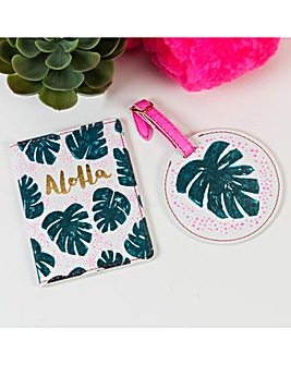 Aloha Passport Cover and Luggage Tag