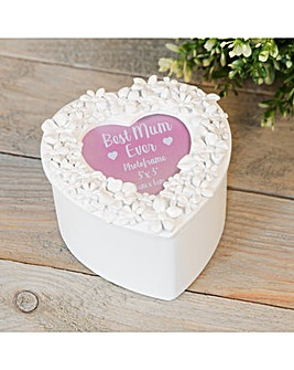 White Heart Mum Trinket Box
