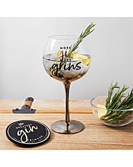 Gin Glass and Coaster Set