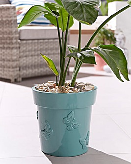 Butterfly Embossed Planter
