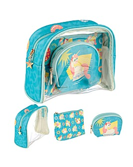 fd5a5a0e88e5d4 Tropical Unicorn Vanity Bag Set of 3