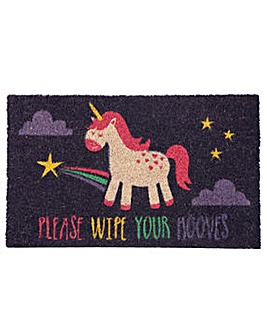 Please Wipe Your Hooves Slogan Door Mat