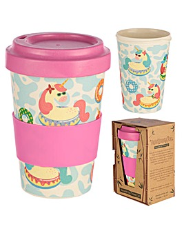 Unicorn Design Bamboo Travel Mug