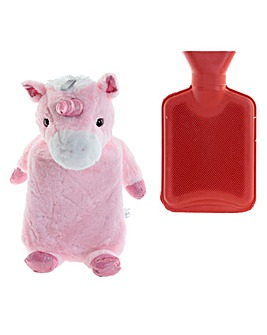 Plush Unicorn Design 1L Hot Water Bottle