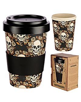 Skulls and Roses Bamboo Travel Cup/Mug