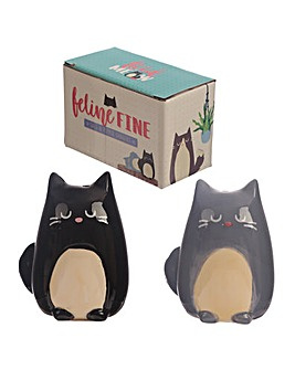 Black and Grey Cat Salt and Pepper Set