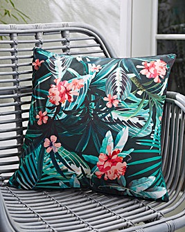 Tropical Print Outdoor Cushion