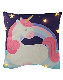 Enchanted Rainbow Unicorn LED Cushion