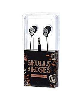 Skulls and Roses Earphones