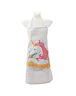 Unicorn Slogan Poly Cotton Apron