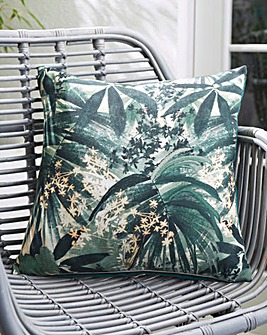 Leaf Print Outdoor Cushion