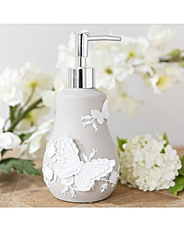 Butterfly Resin Grey Dispenser Bottle