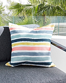 Watercolour Stripe Outdoor Cushion