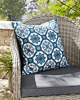 Tile Print Outdoor Cushion