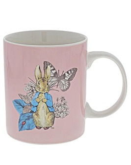 Beatrix Potter Peter Rabbit Mug Pink