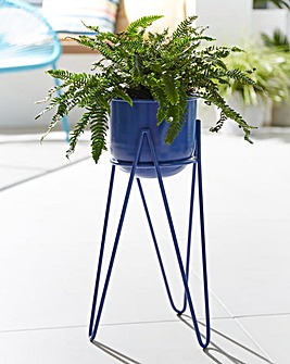 Small Metal Planter on Stand
