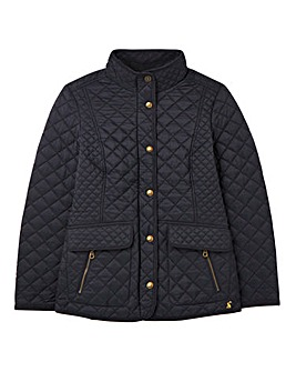 Joules Quilted Jacket with Rib Collar