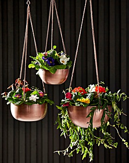 Set of 3 Hanging Planters