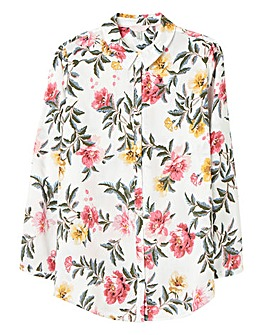 Joules Floral Button Front Shirt