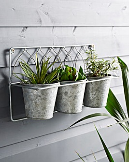 Wall Mounted Set of 3 Planters