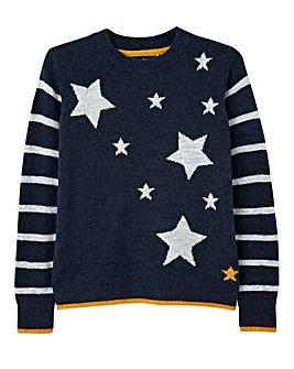 Joules Star Intarsia Jumper