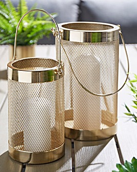 Set of 2 Mesh Lanterns