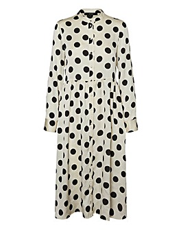 Vero Moda Dotty Long Sleeve Midi Dress