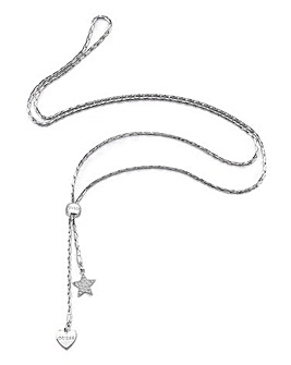 Guess Love Chain Toggle Charm Lariat