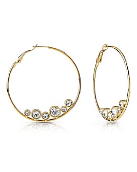 Guess All Around Hoop Earrings
