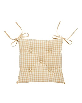 Gingham Check Cotton Seat Pad