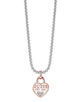 Guess All About Shine Heart Necklace