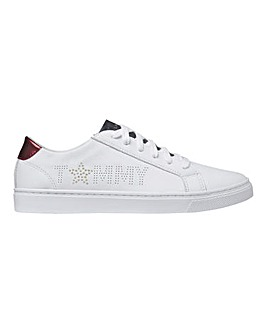 Tommy Hilfiger Star Detail Lace Up Sneakers Standard D FIt