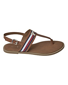 Tommy Hilfiger Leather Toe Post Sandals Standard D Fit