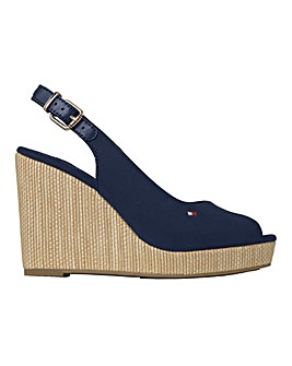 Tommy Sling Back Wedge Sandals D Fit