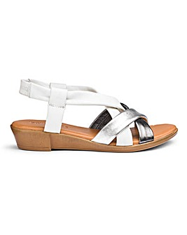 Strappy Leather Slingback Sandals Wide E Fit