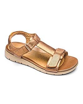 Clarks Un Haywood T Bar Sandals Wide E Fit