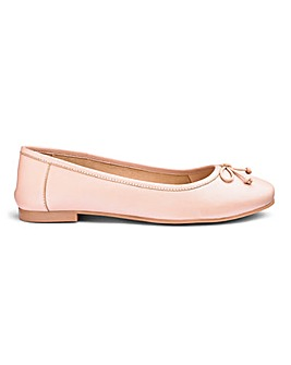 Leather Slip On Ballerinas Wide E Fit
