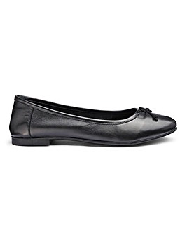 Leather Slip On Ballerinas Ultra Wide EEEEE Fit