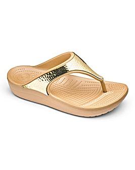 Crocs Toe Post Mule Sandals D Fit