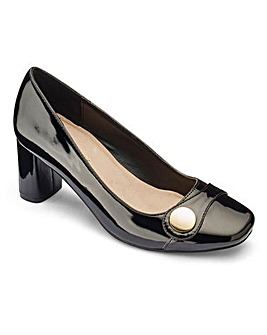 Heavenly Soles Court Shoes Extra Wide EEE Fit