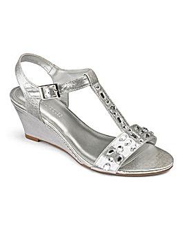 Heavenly Soles Jewel Wedge Sandals Extra Wide EEE Fit
