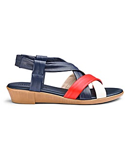 Leather Slingback Sandals E Fit
