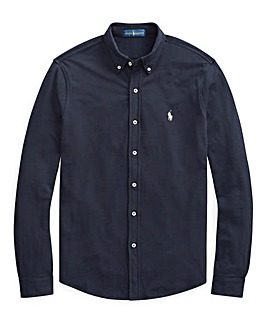 Ralph Lauren Button Through Mesh Shirt