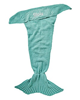 Personalised Knitted Mermaid Blanket